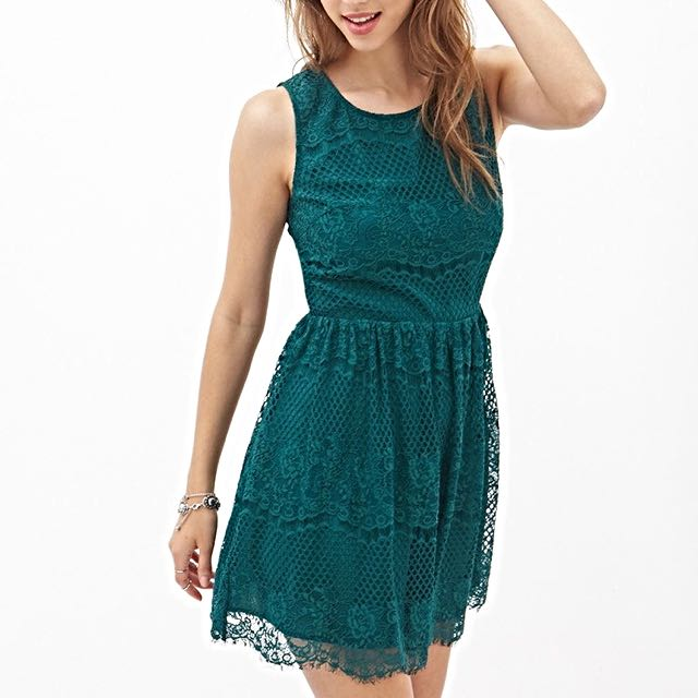 Forever 21 Cutout Back Lace Dress