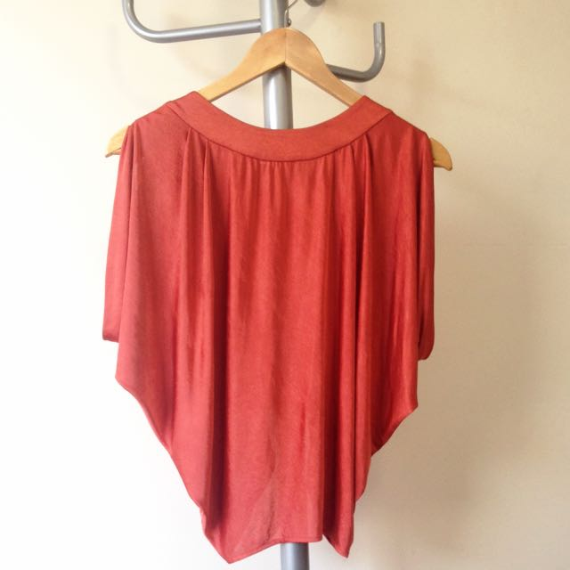 Forever New Open Back Batwing Top