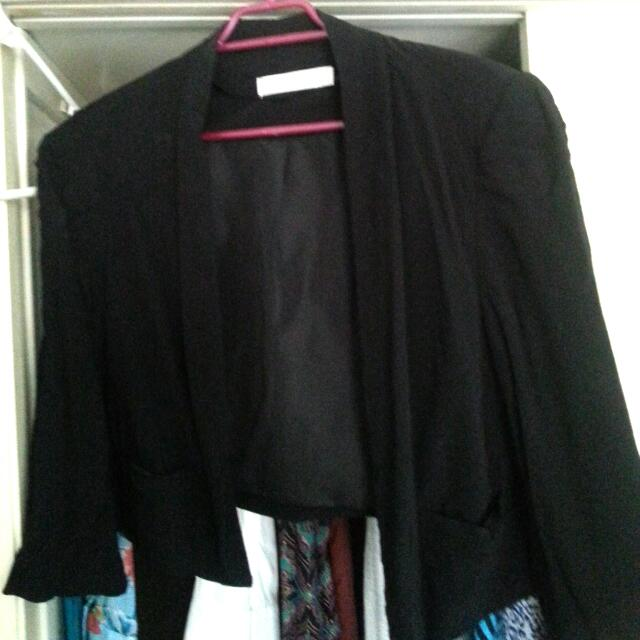 Glassons Buttons and Bows Cropped  Blazer