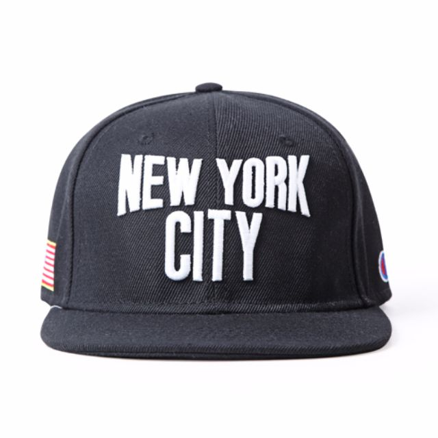 6ff977ab8ea Instock Champion New York City USA Black Snapback Cap Hat Caps Hats with  Adjustable Strap