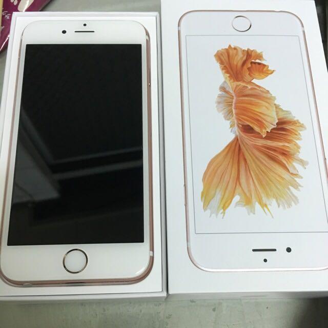 iphone 6s plus 128G 玫瑰金