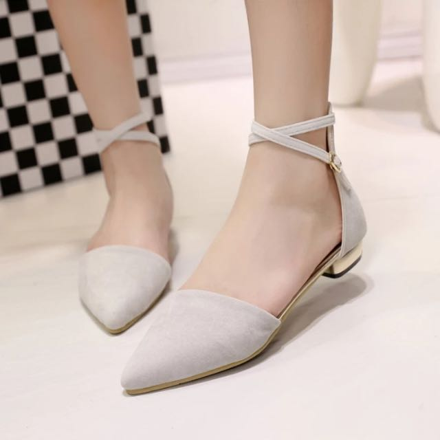 a12a93e89 Minimalist Criss Cross Strap Pointed Flats (casual Shoes) (black ...
