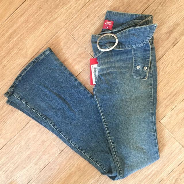 義賣-幫助流浪動物-MISS SIXTY復古腰帶喇叭牛仔褲-全新吊牌未剪-26號