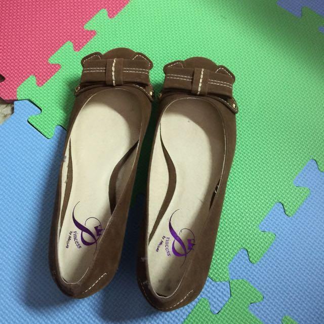 Miss Sofi Princess 棕色 蝴蝶結娃娃鞋