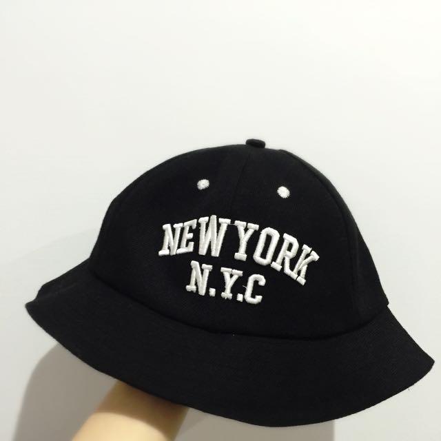 [⭕️帆布漁夫帽]NewYork N.Y.C-黑色