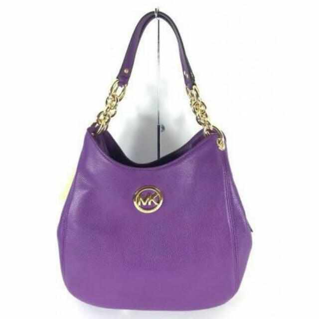 a0caf8292936 NWT MICHAEL KORS Fulton Large Leather Shoulder Bag, Luxury on Carousell