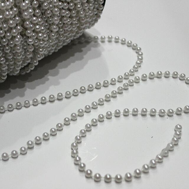 Pearl Strings - White 5MM