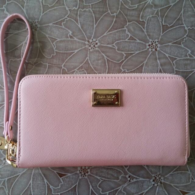 Pink Zara Basic Long Wallet