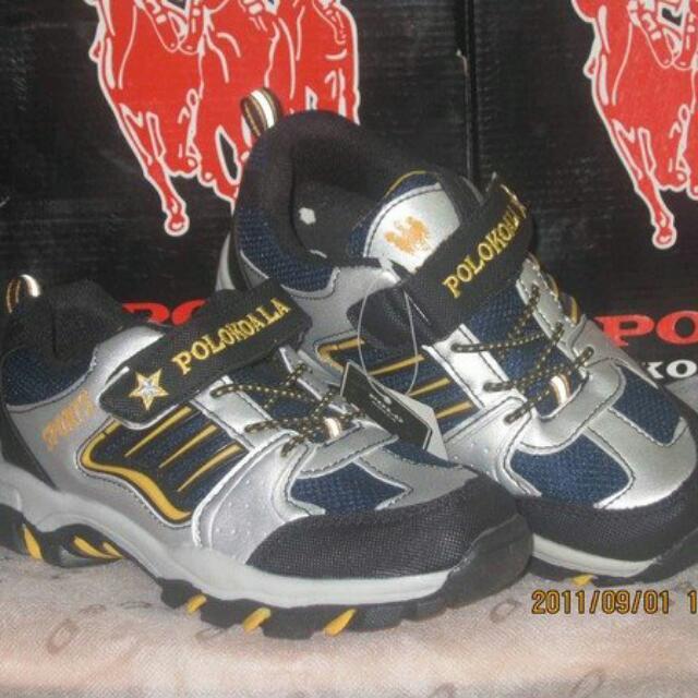 全新POLO KOALA童鞋----銀藍色運動球鞋37號(24.5CM)~