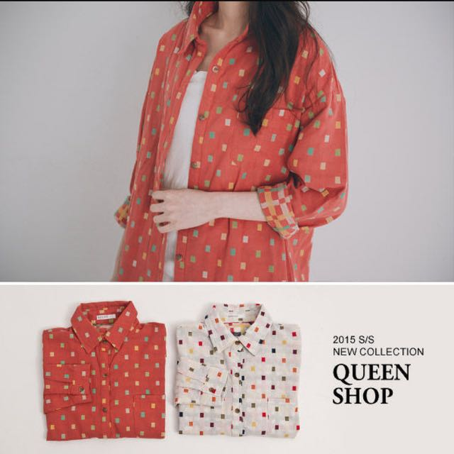 降Queen Shop格子外套