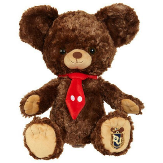 絕版大學熊unibearsity摩卡娃娃/布偶/玩偶【米奇領帶款】