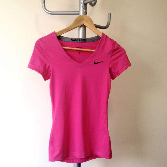 Women's Nike Pro Dri-Fit Pink T Shirt
