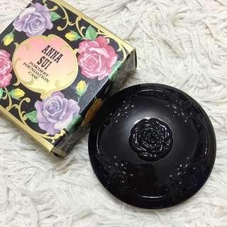 Anna Sui 安娜蘇黑色薔薇粉餅盒