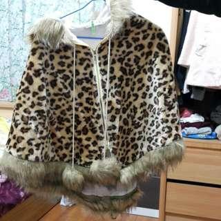 豹紋 大衣 披風 外套