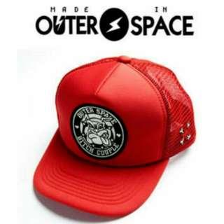 🚚 【絕版品】Outerspace太空總部。太空鬥牛犬網帽