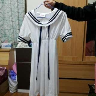 制服 洋裝 白 水手