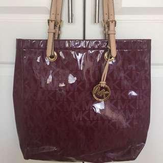 Michael Kors Maroon Tote Bag
