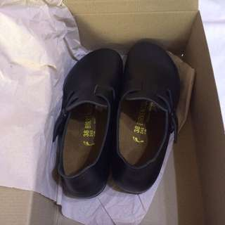 Birkenstock勃肯 London 黑色真皮 鞋款 38號 包鞋 全新