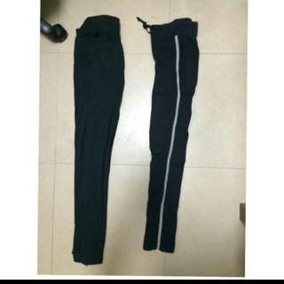 Hang Tan條紋寬鬆運動褲