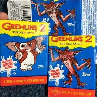 🚚 Gremlins小魔怪 1990稀有美產老卡