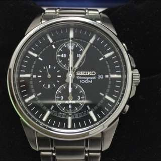 Seiko chronograph 100m watch