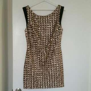 Seduce Gold Dress