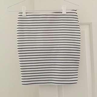 White and Black skirt