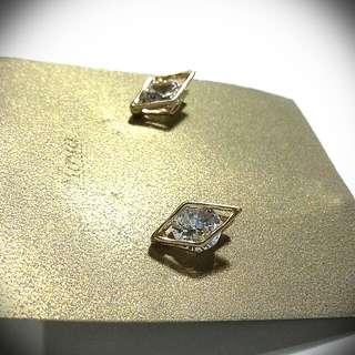 Diamond Frame With Gem Earrings