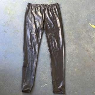 'Wet Look' Pants