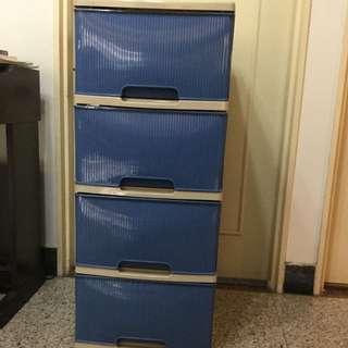 出清家具 百合四層收納櫃 塑膠收納抽屜櫃 $890購入