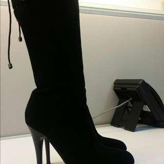 黑色高統靴 JO WALK Paris,24號,7號