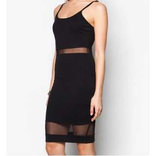 Zalora Black Mesh Dress