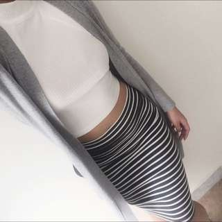 White Halter Neck Crop