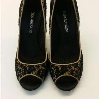 ENZO ANGIOLINI優雅魚口鞋,37號,24號,7號