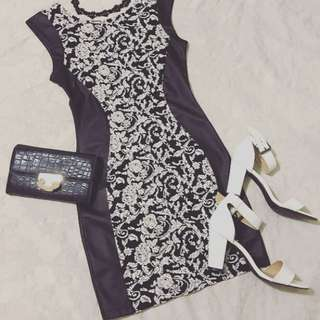 🍓🍓Slimming Black Dress With Pattern