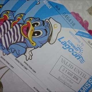 Sunway Lagoon Ticket X4