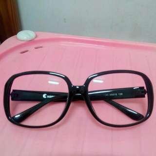 復古四方圓框眼鏡(附眼鏡行配的無度數光學安全鏡片抗UV)