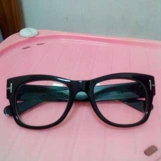 復古側邊十字造型眼鏡(附眼鏡行配的無度數光學安全鏡片抗UV)