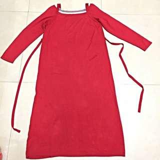 全新歐歐咪妮百貨專櫃針織孕婦長洋裝