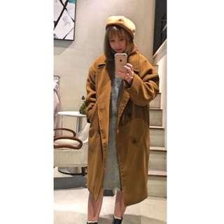 羊毛鋪棉大衣外套