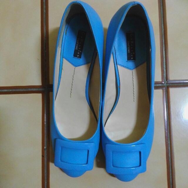 達芙妮水藍跟鞋24
