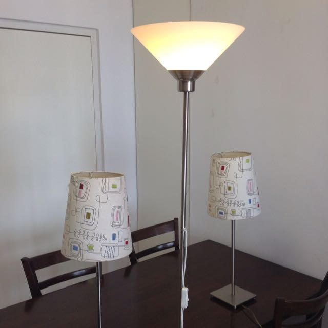 2 Table Lamps, 1 Floor Lamp, Expat Moving Sale