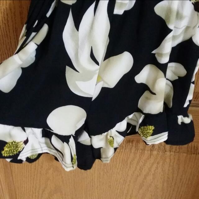 花朵綁帶連身褲