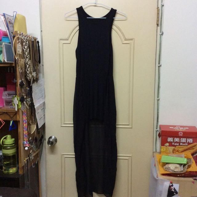 黑色雪紡長裙
