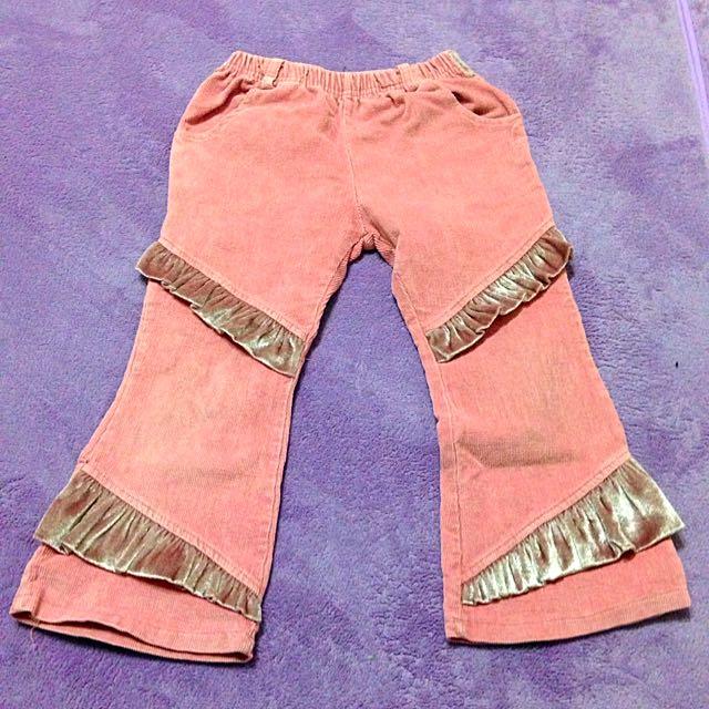 鬆緊褲(粉色蕾絲設計)