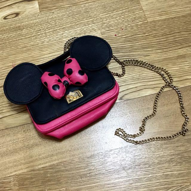 (二手)日本迪士尼帶回的米妮背包(保留中)