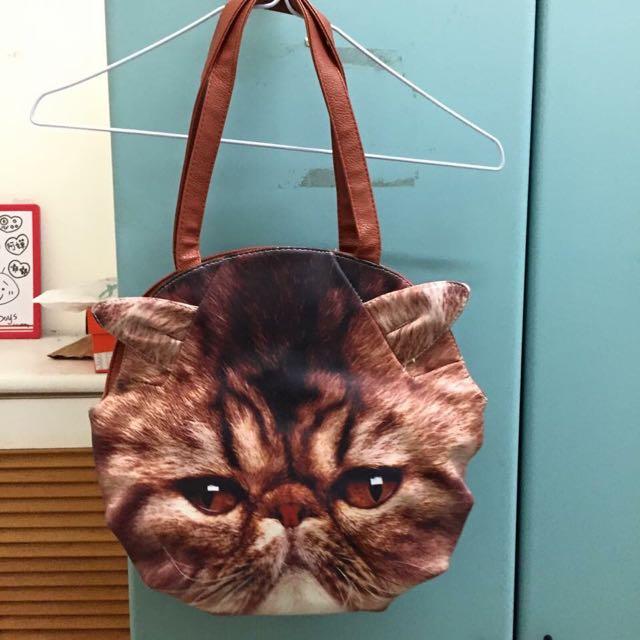 立體感跩臉貓包包🐈