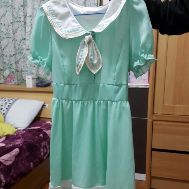 湖水綠 洋裝