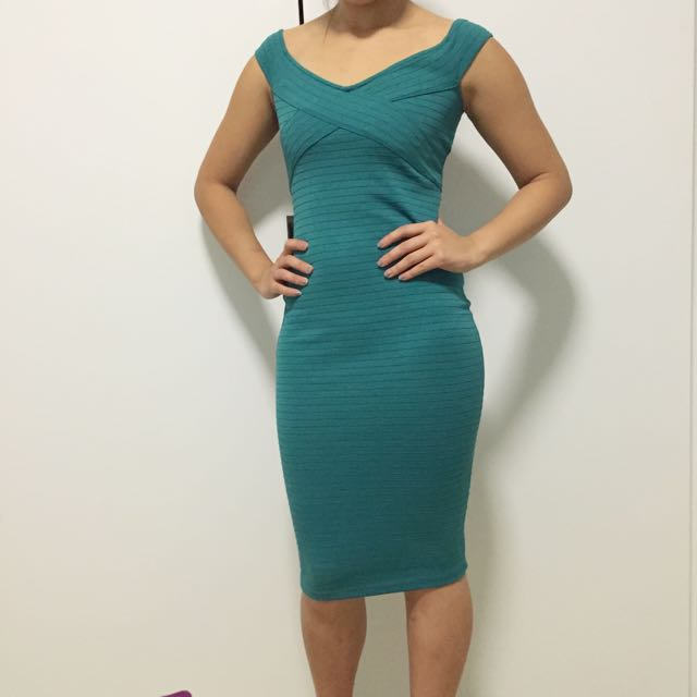 ASOS Aqua Bandage Dress