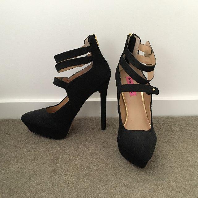 Betsey Johnson - Strappy Black Heels